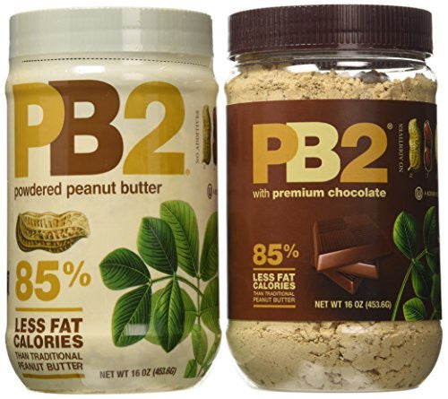 Bell Plantation PB2 Bundle: 1 Peanut Butter and 1 Chocolate Peanut Butter, 1 lb Jar (2-pack)