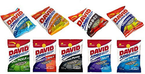 David Sunflower Seeds Variety Pack, 9 Flavors (5.25oz Bags)