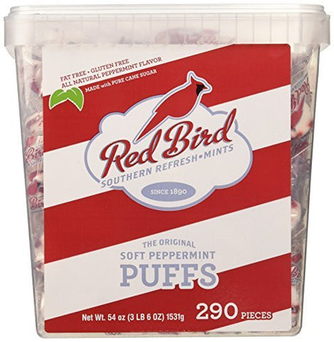 Red Bird Soft Peppermint Puffs 290 Count Tub