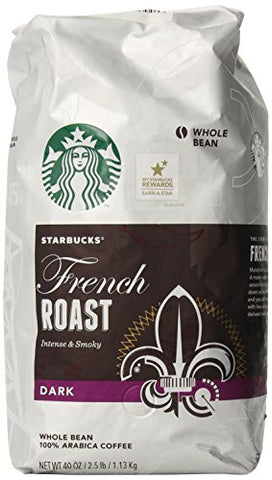 Starbucks French Roast Whole Bean Coffee, 40-Ounce