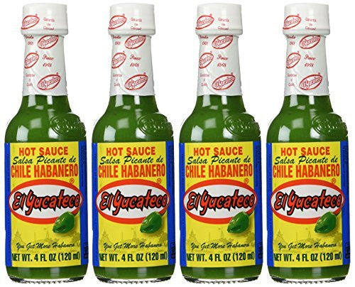 El Yucateco Green Habanero Hot Sauce 4 oz. (4-Pack)