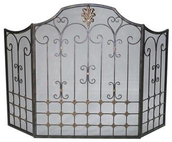 Cyan Design Bronze Fire Screen - GDH | The decorators department Store
