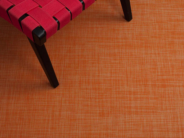 Mini Basketweave Floor Mat by Chilewich | Clementine - LIFE MODERNE