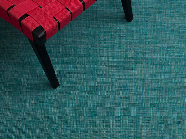 Mini Basketweave Floor Mat by Chilewich | Turquoise - LIFE MODERNE