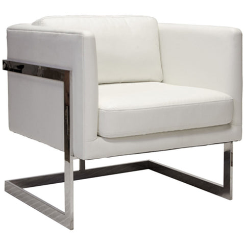 Macallan White Leather Chair - LIFE MODERNE