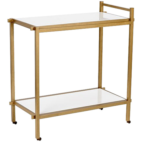 Chelsea House White Bar Cart - LIFE MODERNE