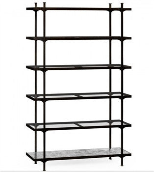 Patinated  six tier etagere | Bronze - LIFE MODERNE