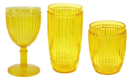 Milano Outdoor Drinkware - Yellow - Set of 6 - LIFE MODERNE - 1