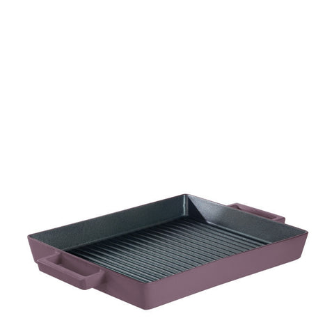Terra Cotto Cast Iron Rectangular Grill Pan | Juniper - LIFE MODERNE