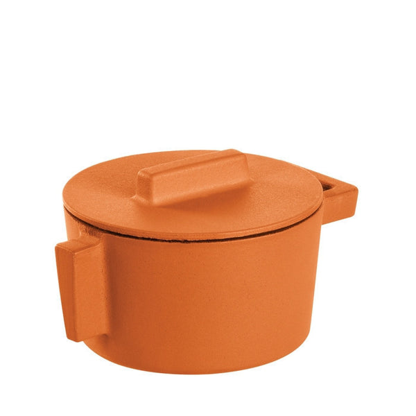Terra Cotto Cast Iron Saucepot with Lid | Curry - LIFE MODERNE