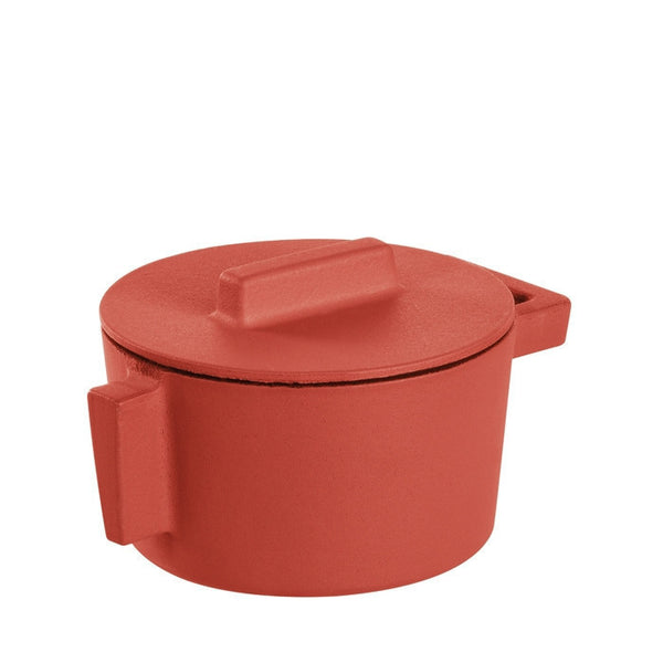 Terra Cotto Cast Iron Saucepot with Lid | Paprika - LIFE MODERNE