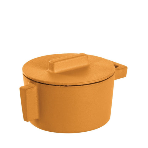 Terra Cotto Cast Iron Saucepot with Lid | Vanilla - LIFE MODERNE