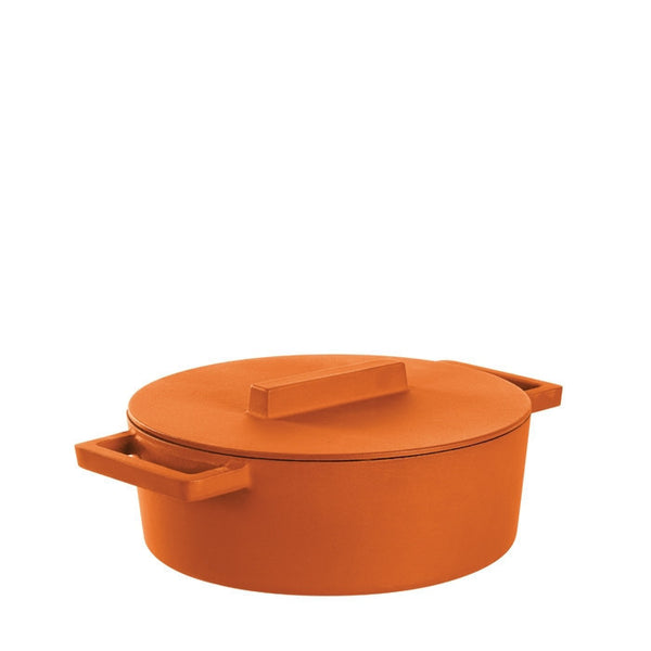 Terra Cotto Cast Iron Oval Casserole Pot with Lid | Curry - LIFE MODERNE