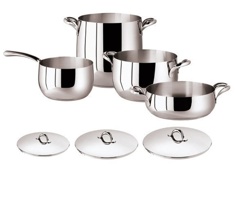 Kikka 7 Pcs Set - Stainless Steel - LIFE MODERNE