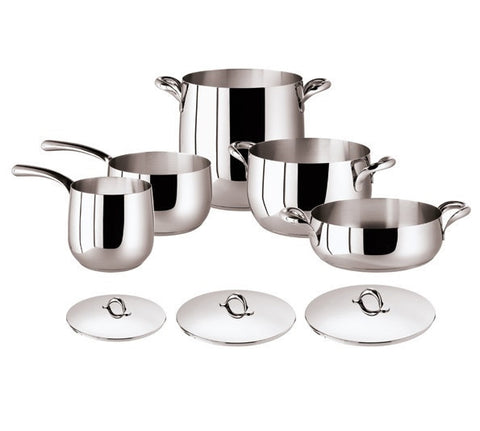 Kikka 8 Pcs Set - Stainless Steel - LIFE MODERNE