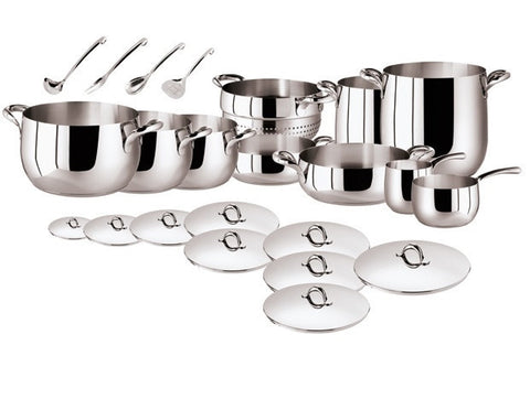 Kikka 16 Pcs Set - Stainless Steel by Sambonet - LIFE MODERNE