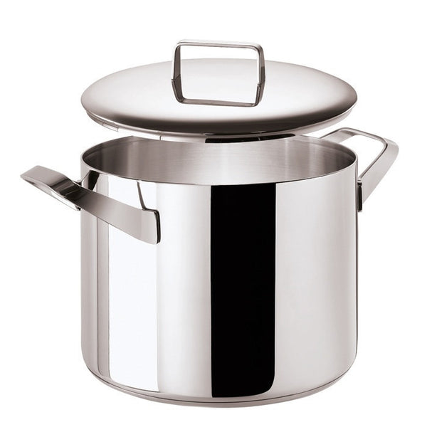 Menu Stock pot 2 handles and  Lid, stainless steel, 9 1/2 inch - LIFE MODERNE