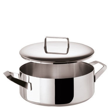 Menu Saucepot 2 handle and  Lid, stainless steel, 9 1/2 inch - LIFE MODERNE