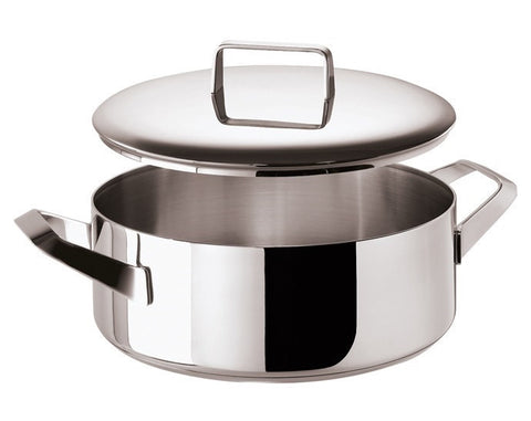 Menu Saucepan 2 handles and  Lid, stainless steel, 11 inch - LIFE MODERNE