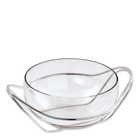 Living Antioxidant alloy Crystal punch bowl with frame - LIFE MODERNE
