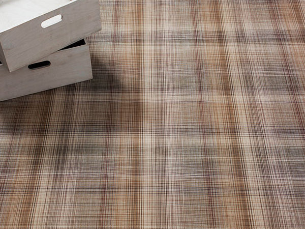 Plaid Floor Mat by Chilewich | Tan - LIFE MODERNE