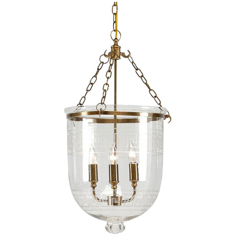 Chelsea House Antique Brass with Glass Decor Pendant - LIFE MODERNE