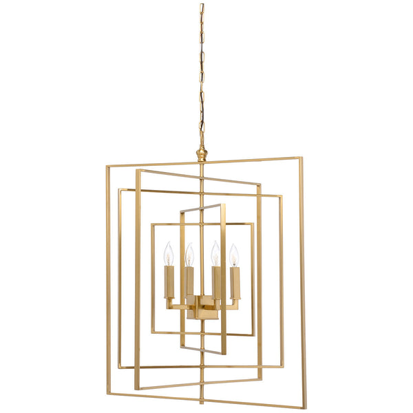 Cube Antique Brass Chandelier - LIFE MODERNE