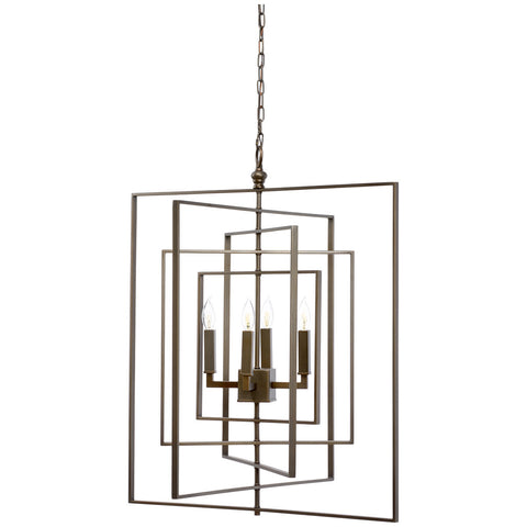 Cube Brass with Bronze Chandelier - LIFE MODERNE
