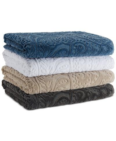 FRANCESCA SCULPTED PAISLEY TOWEL S/3