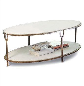 Iron and Stone Cocktail Table by Global Views - LIFE MODERNE