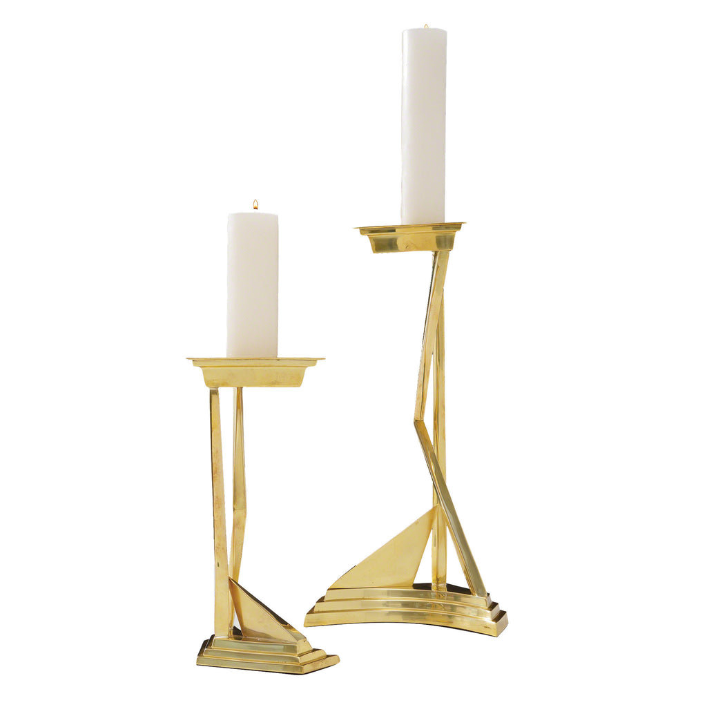 Abstract Brass Candlesticks - LIFE MODERNE