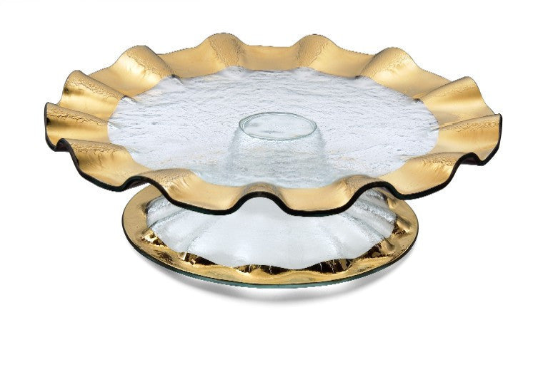 Annieglass | Ruffle Series | Cake Stand - LIFE MODERNE