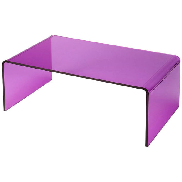 Acrylic Purple Clear Cocktail Table