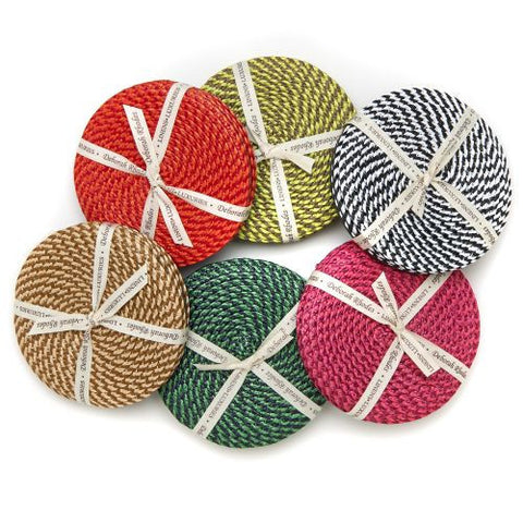 Deborah Rhodes Basketweave Coasters-Set of 4 - LIFE MODERNE - 1