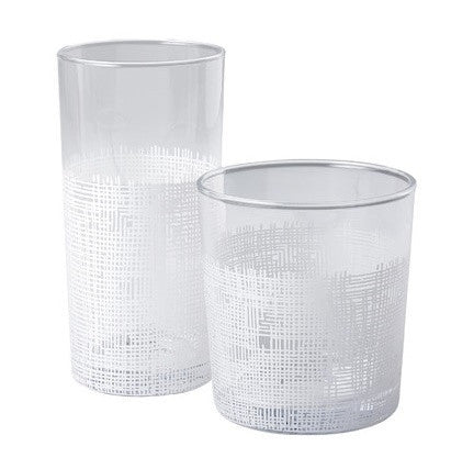 Crosshatch (White) Glasses - LIFE MODERNE