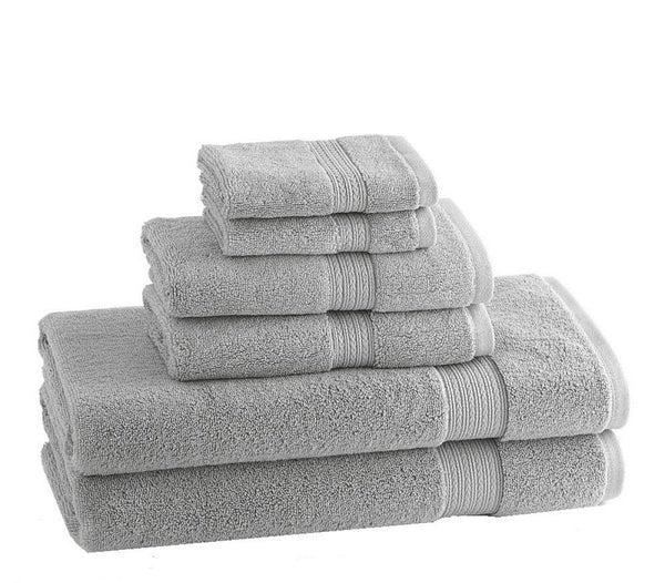 CLASSIC EGYPTIAN TOWELS | Set of 6 | Dolphin Grey - LIFE MODERNE