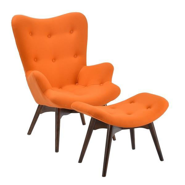 Auzzie Lounge Chair and Ottoman | Orange