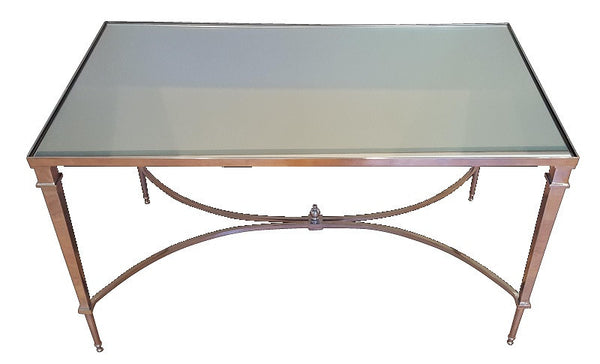 French Square Leg Cocktail Table-Nickel - LIFE MODERNE