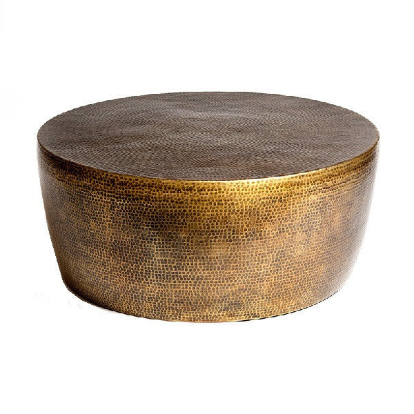 Izmir Hammered Cocktail Table-Antique Brass - LIFE MODERNE - 1