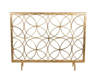 Antique Gold Circles Firescreen - LIFE MODERNE
