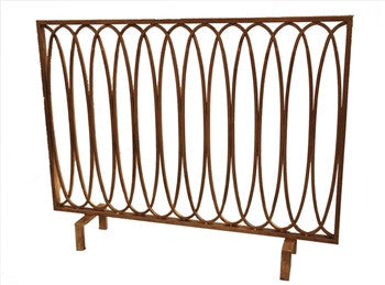 Antique Gold Loop Firescreen - LIFE MODERNE