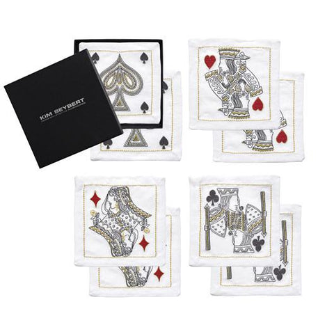 House of Cards Cocktail Napkins-Set of 8 in Gift Box - LIFE MODERNE