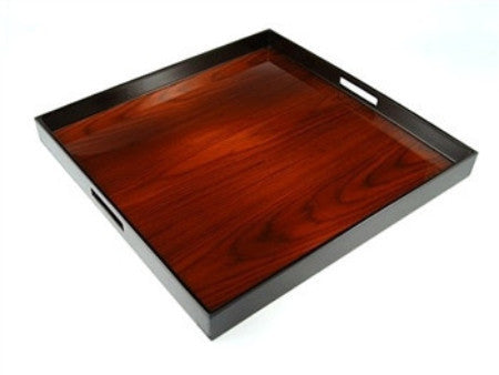 Large Square Serving Tray | 22 x 22 | Rosewood - LIFE MODERNE