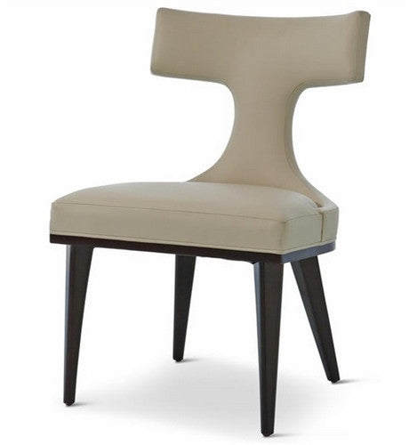 Anvil Back Dining Chair Ivory Leather - LIFE MODERNE