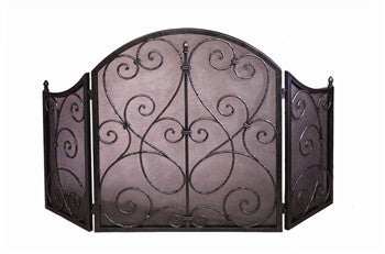 Pewter Scroll Firescreen - LIFE MODERNE