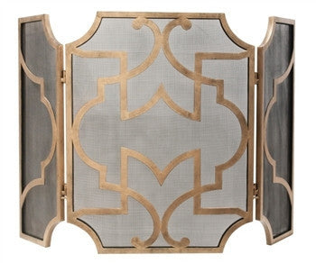 Antiqued Gold and Black Firescreen - LIFE MODERNE