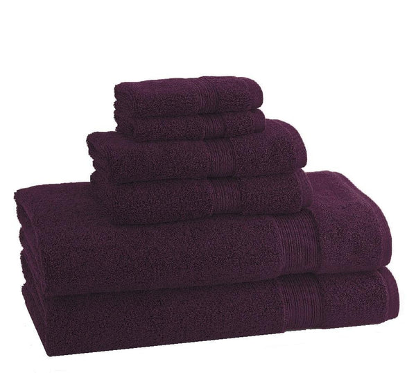 CLASSIC EGYPTIAN TOWELS | Set of 6 | Plum - LIFE MODERNE