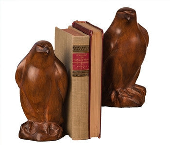 Wood Finish Eagle Bookends - LIFE MODERNE