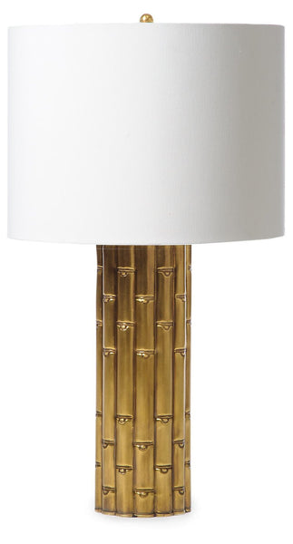 Bamboo Lamp | Antiqued Brass