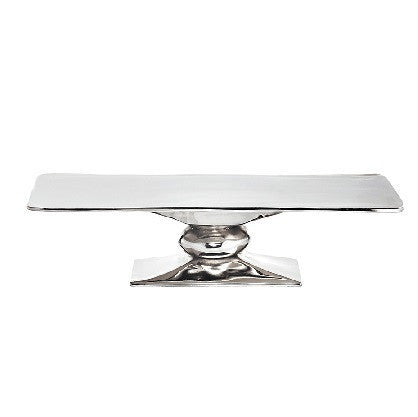 Rock Rectangle Cakestand Silver - LIFE MODERNE